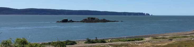 View of Black Roak Tidal Power Site, Bay of Fundy